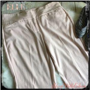 ELLE Blush Colored Wide Waist Dress Pants